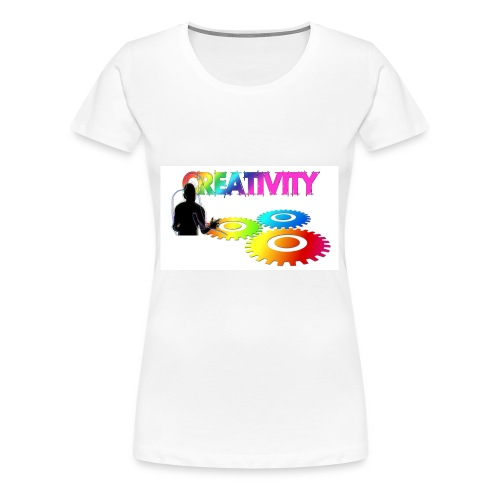 Kreativität - Bunde Livestyle Illustration - Frauen Premium T-Shirt