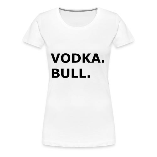 Vodka Bull Schwarz - Frauen Premium T-Shirt