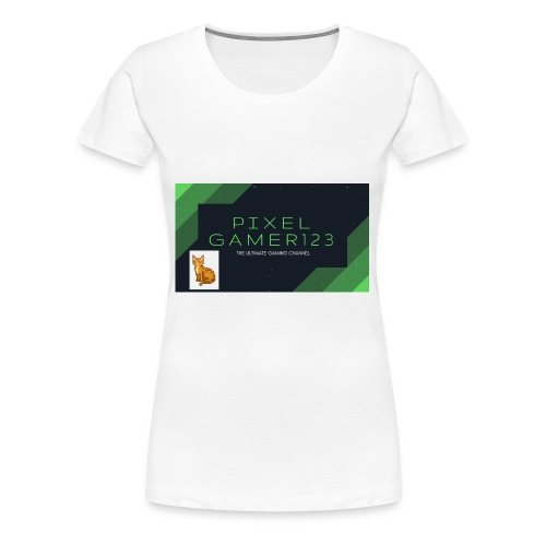 PIXEL GAMER123 HEADER - Women's Premium T-Shirt