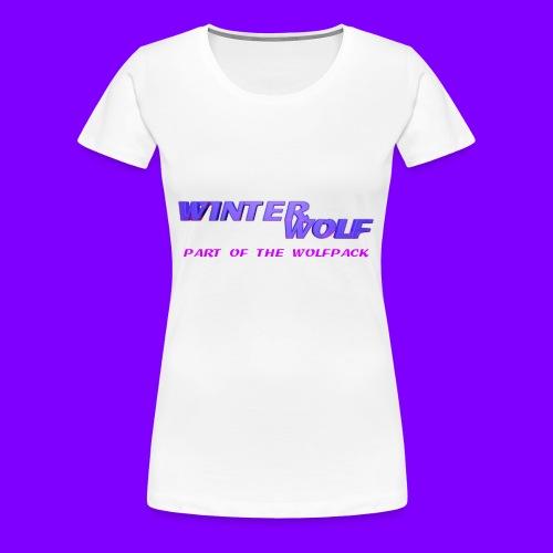 WINTERWOLF LOGO Part of The Wolfpack T-shirt - Vrouwen Premium T-shirt