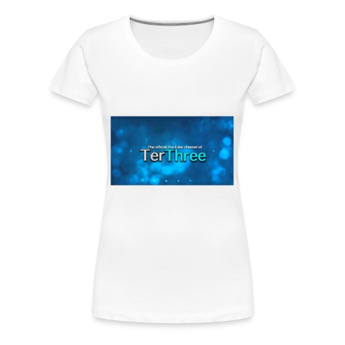 Ter Three Officail Banner - Women's Premium T-Shirt