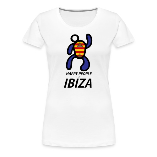 Happy People of Ibiza - Vrouwen Premium T-shirt
