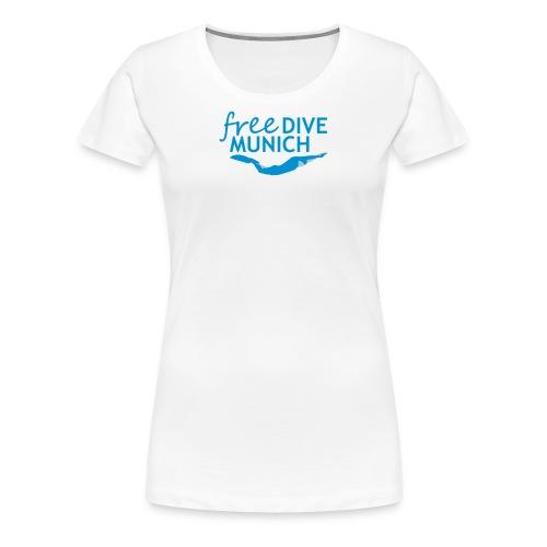 FreeDive Munich Logo zweifarbig - Frauen Premium T-Shirt