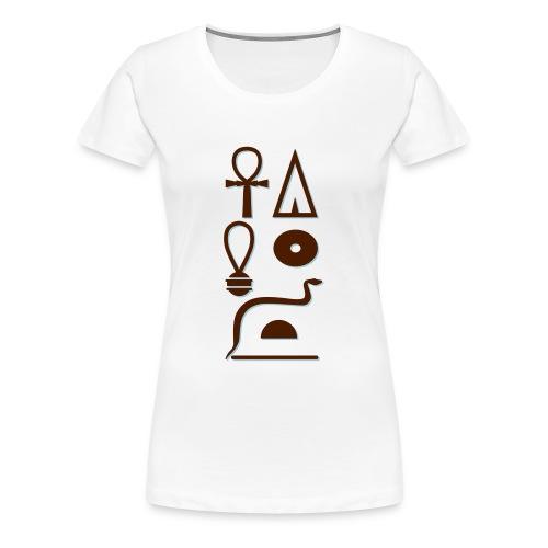 Hieroglyphen - Leben wie Re ewig - Frauen Premium T-Shirt