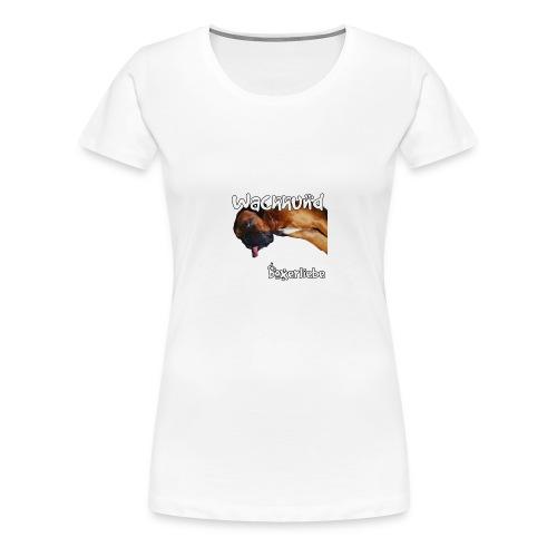 Wachhund Boxerliebe - Frauen Premium T-Shirt