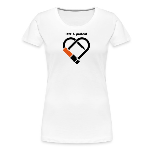 u love u protect - Frauen Premium T-Shirt