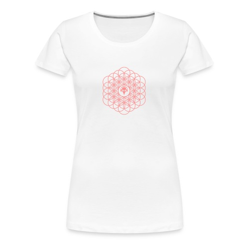 Blume des Lebens Pink - Frauen Premium T-Shirt