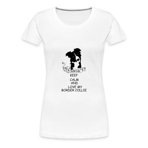 border_collie - Premium-T-shirt dam