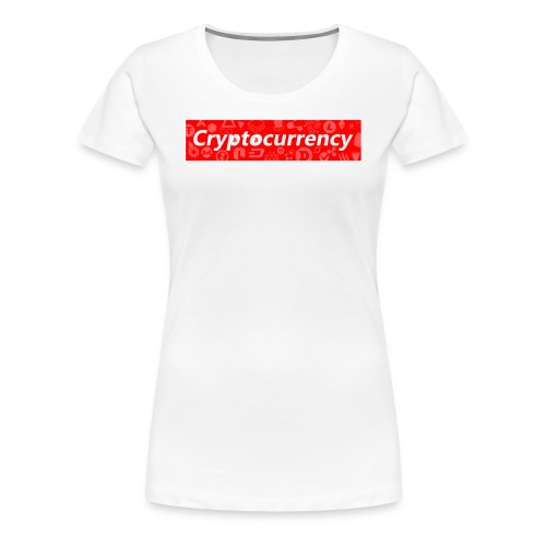 Cryptocurrency - Crypto Currency Logo Design - Women's Premium T-Shirt