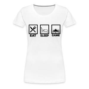 Eat, Sleep, Game - Women's Premium T-Shirt