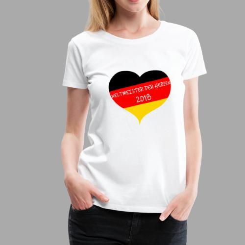Weltmeister der Herzen 2018 - Frauen Premium T-Shirt