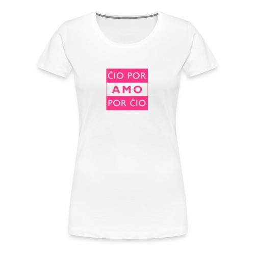 LIEBE FÜR ALLE - ESPERANTO - Frauen Premium T-Shirt
