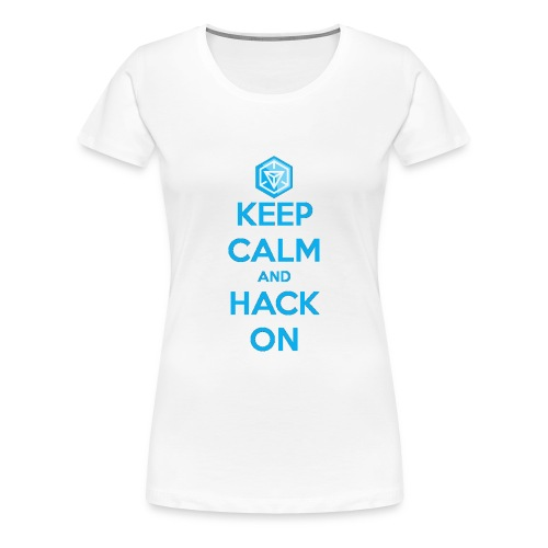 keep calm and hack on - Maglietta Premium da donna