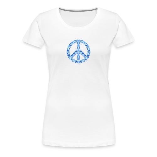 Peace Zeichen in blau - Frauen Premium T-Shirt