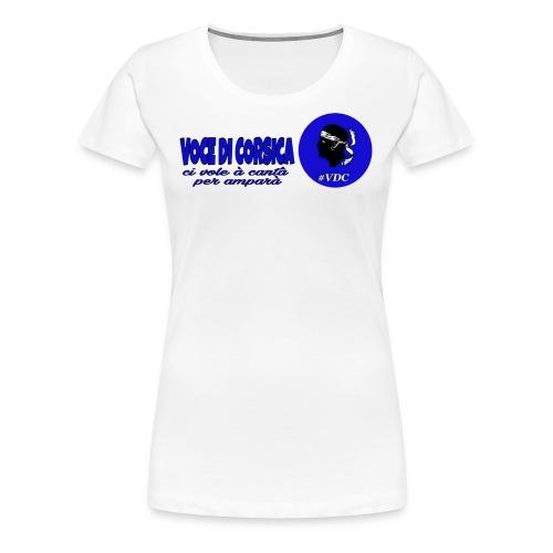Voce di Corsica logo 1 - T-shirt Premium Femme