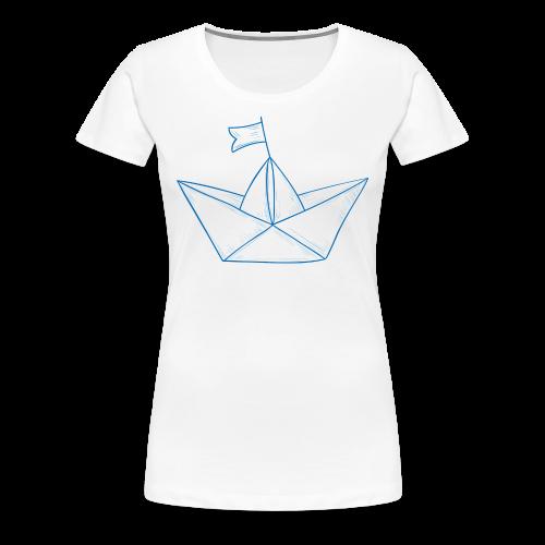 Papierboot #1 - Frauen Premium T-Shirt
