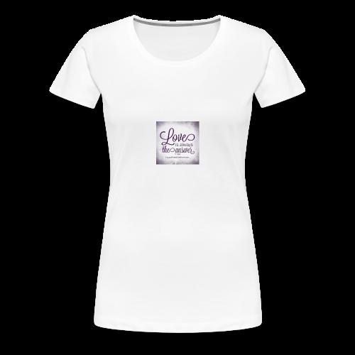 lång är mad tröja - Premium-T-shirt dam