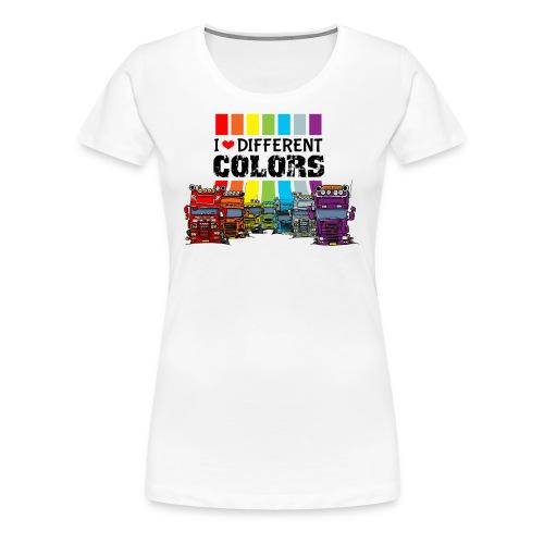 i love different colors trucks - Vrouwen Premium T-shirt