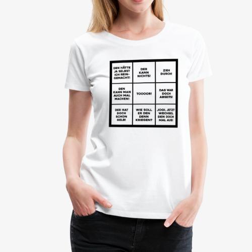 WM Bingo - Frauen Premium T-Shirt