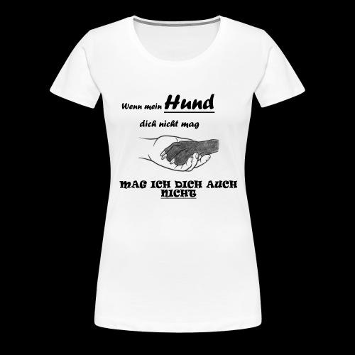 Hundeliebhaber T-shirt - Frauen Premium T-Shirt
