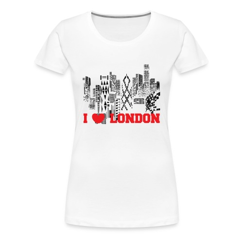I LOVE LONDON SKYCRAPERS - Camiseta premium mujer