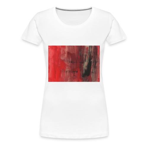 abstrait rouge et noir - T-shirt Premium Femme