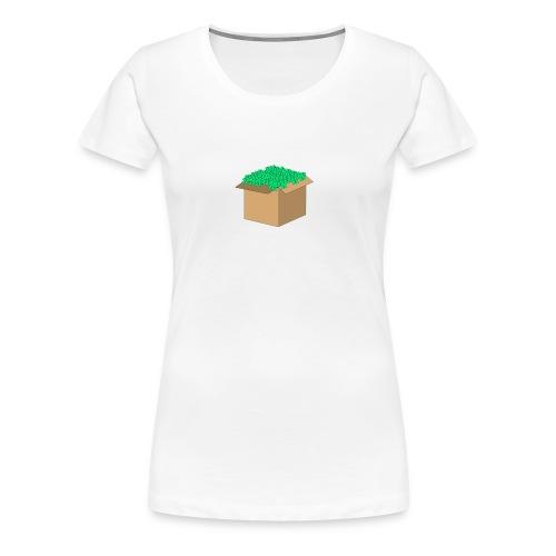 Geld Karton - Frauen Premium T-Shirt