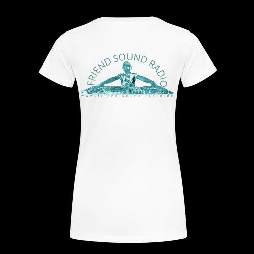 Friend Sound Radio DJ Rücken - Frauen Premium T-Shirt
