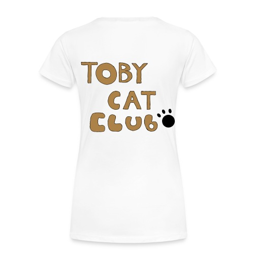 Toby Cat Club Rough Sketch - Women's Premium T-Shirt