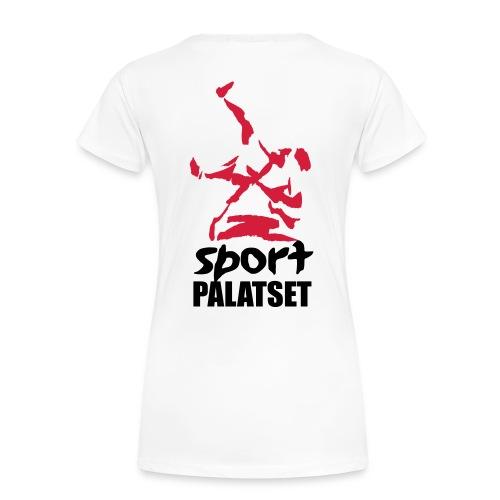Motiv med svart och röd logga - Premium-T-shirt dam