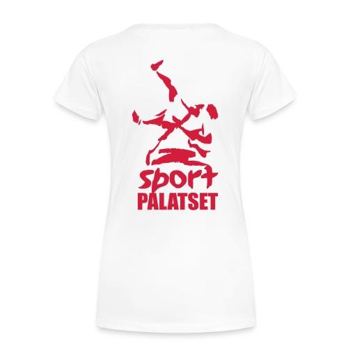 Motiv med röd logga - Premium-T-shirt dam