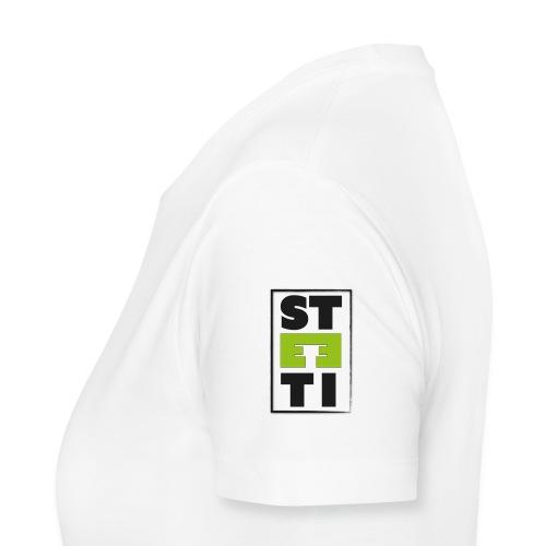 Steeti logo på vänster arm - Premium-T-shirt dam