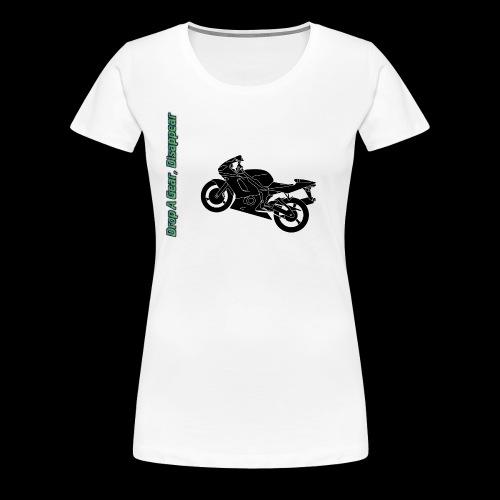 Mouse Mat - Drop A Gear, Disappear - Women's Premium T-Shirt