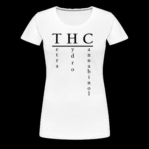 THC-Tetrahydrocannabinol - Frauen Premium T-Shirt