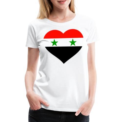 Syria Herz auf der Brust Syrien Flagge Syria - Frauen Premium T-Shirt