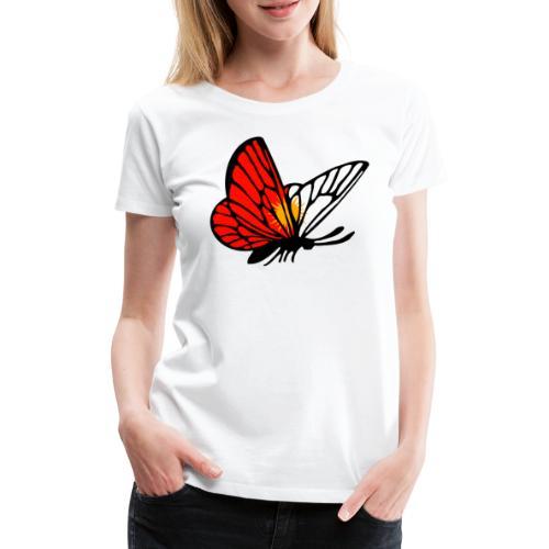 Ezidxan Schmetterling mit der Flagge der Yezidi - Frauen Premium T-Shirt
