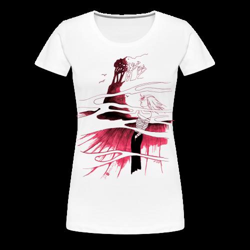 Ein Ort (rot) - Frauen Premium T-Shirt