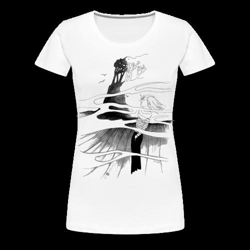 Ein Ort (grau) - Frauen Premium T-Shirt