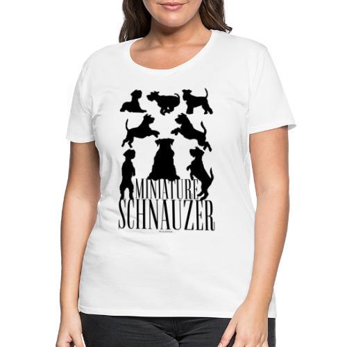 Miniature Schnauzer Black - Naisten premium t-paita