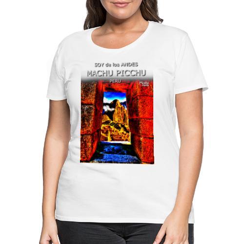 SOJA de los ANDES - Machu Picchu II - Frauen Premium T-Shirt