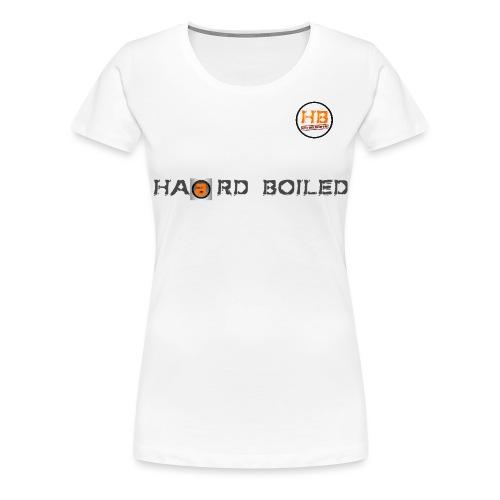 Schrift mit orangenem a - Frauen Premium T-Shirt