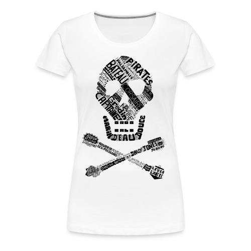 Tête de mort mots - T-shirt Premium Femme