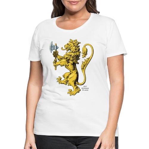 Den norske løve i gammel versjon - Premium T-skjorte for kvinner