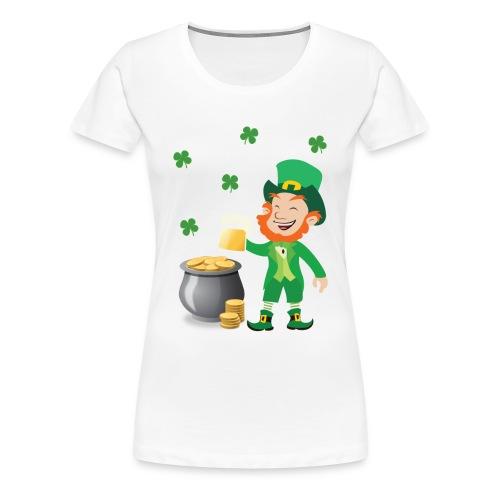 Irish Leprechaun With Pot Of Gold St. Patricks Day - Women's Premium T-Shirt