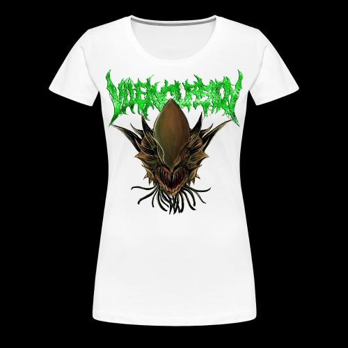 Alien head logo - Premium-T-shirt dam