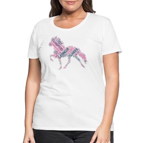 Islandpferd - Wortwolke - Frauen Premium T-Shirt