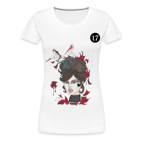 STÖRCHE IM BLOOMING LENORMAND | 17 - Frauen Premium T-Shirt