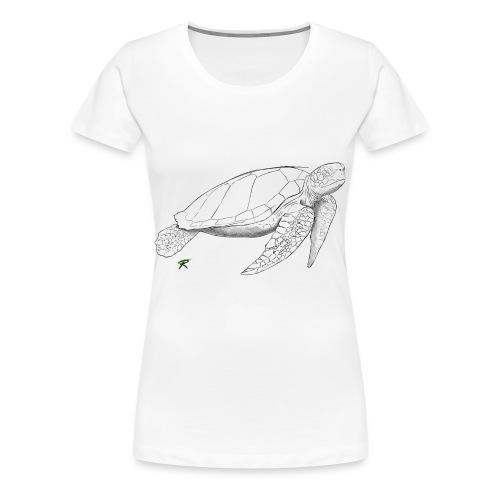 Sea turtle sketch - Maglietta Premium da donna