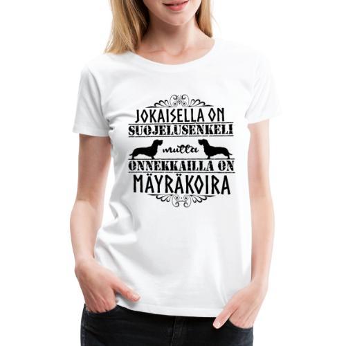Mäyräkoira KK Enkeli 2 - Naisten premium t-paita