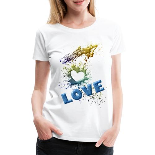 motif love - T-shirt Premium Femme